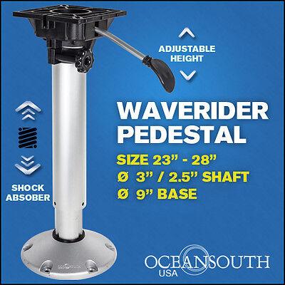 Shock Absorbing Adjustable Waverider Boat Seat Pedestal 23'' – 28''