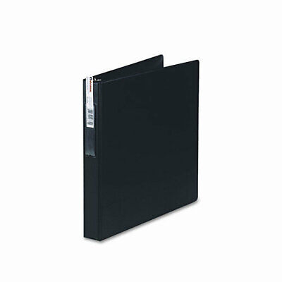 Universal D-ring 3-ring Binder With Label Holder 1 Capacity Black Ea - Unv20