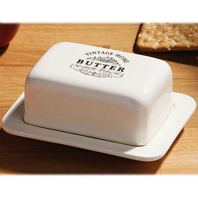 Vintage Ceramic Butter Dish Holder Tray Storage Holder With Lid Kitchen Storage