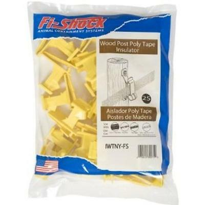 Fi-shock Iwtny-fs Poly Tape Wood Post Insulator Yellow