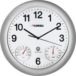 Lorell Analog Temperature/Humidity Wall Clock - Analog  LLR61000