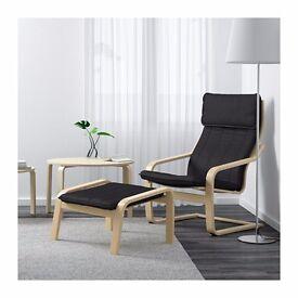 IKEA Armchair POÄNG and stool for sale