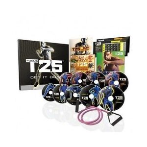 T25 FOCUS 10 DVD  BEACH BODY WORKOUT SET, RESISTANCE BAND, BRAND NEW BOX