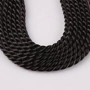 Braided Black Necklace Cord