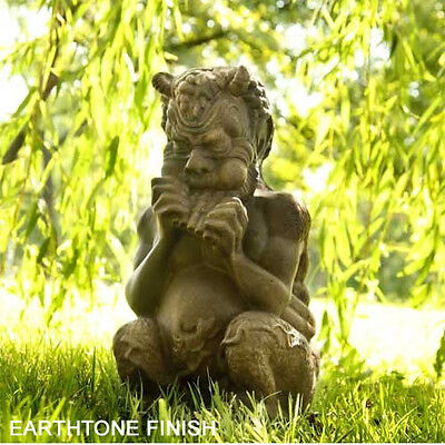 Chubby Greek Pan Outdoor Garden Statue -Orlandi Statuary -Faux Cement FS68394