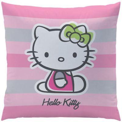 Hello Kitty Dekokissen Bezug mit Füllung rosa Rauten 40 x 40 cm