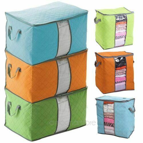 Non-woven Portable Clothes Storage Bag Folding Closet Pillow