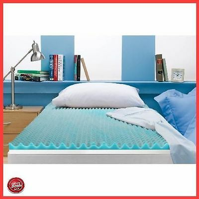Full Size 3 Inch Beautyrest Cooling Gel Memory Foam Topper Mattress