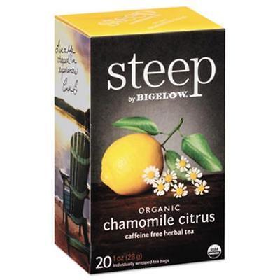 Bigelow Tea 17707 Steep Tea, Chamomile Citrus Herbal, 1 Oz Tea Bag, 20/box
