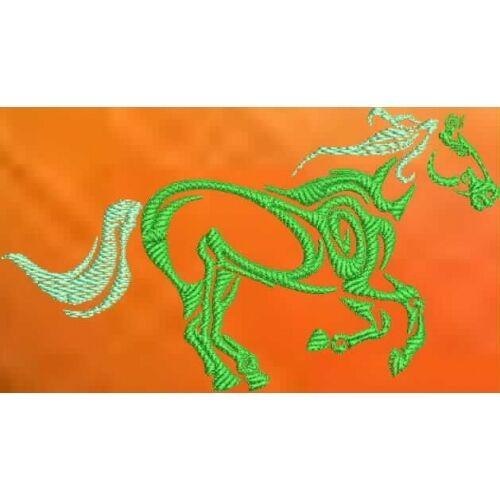 Embroidered Sweatshirt - Tribal Horse S1-02 Sizes S - XXL