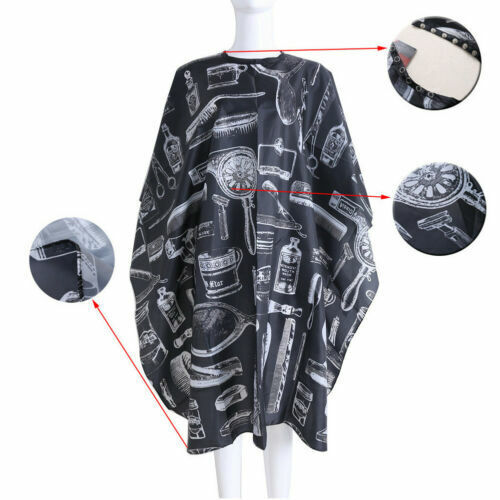 Hair Cutting Barber Cape with Window Phone Viewing Salon Apron Stylist Gown