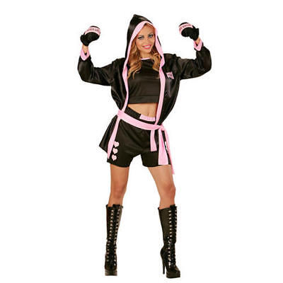 Womens Ladies Boxer Gir Fancy Dress Costume Outfit L