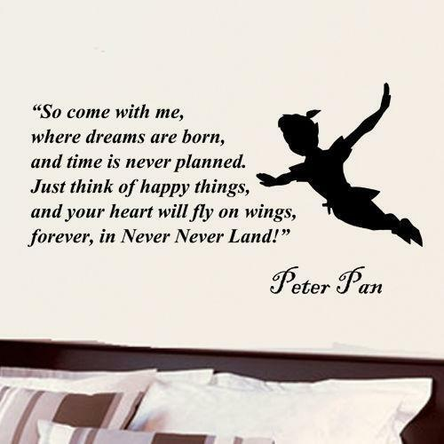 peter pan wall decal ebay