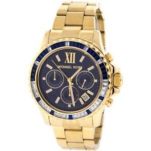 5dfb9843941d Michael Kors Watch Gold Blue