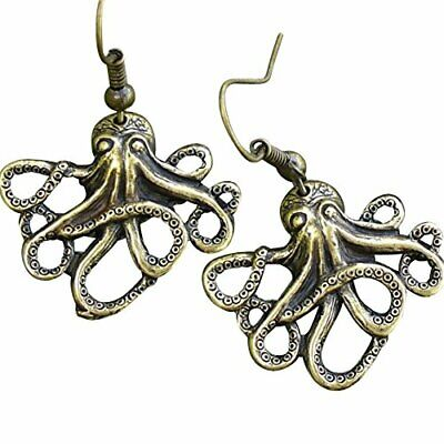 Steampunk Pirate Gothic earrings jewelry costume accessories octopus pendant