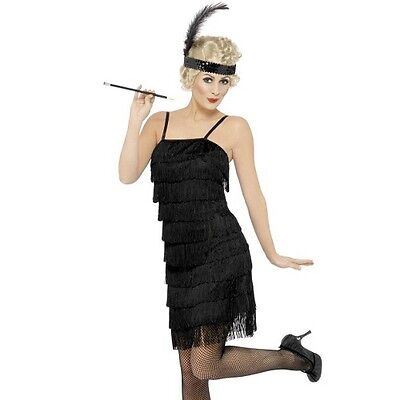 Damen 20er 1920er Jahre Gangster Fransen Flapper Damen Fancy von Smiffys
