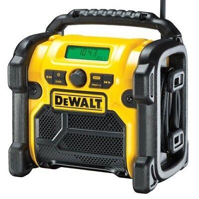 DeWalt DCR 020 DAB Site Radio. Runs on 10.8-18V Battery or Mains 240V. Bargain!B