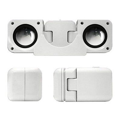 Portable Folding Speakers for iPods & MP3 Players - White