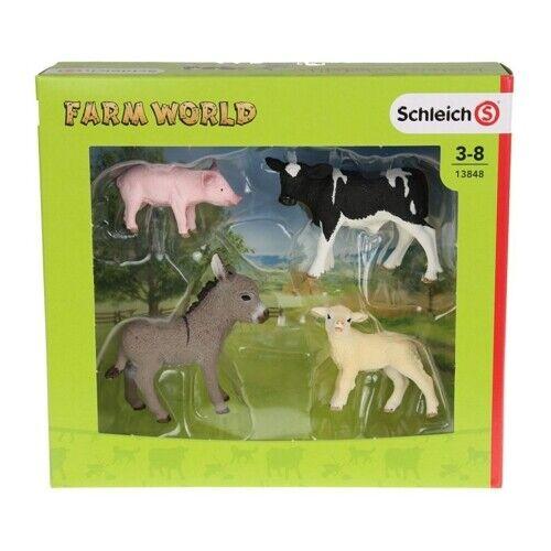 Schleich Farm World Little Animals, Pig, Sheep, Lamb, 3 - 8 13848 NEW & SEALED!