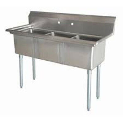 Three Compartment Nsf Comercial Sink Size Bowl 12 X16