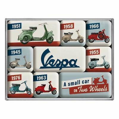 Vespa - Model Chart Nostalgie Kühlschrank Magnet-Set 9-tlg Tin Sign MAG01