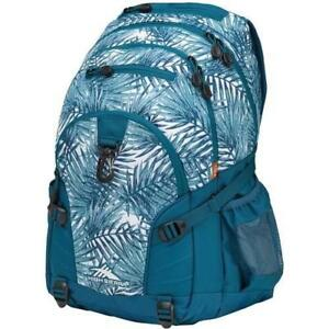 High Sierra 53646-5855 Swerve Palms Polyester Backpack - Palms/Lagoon (New Other)