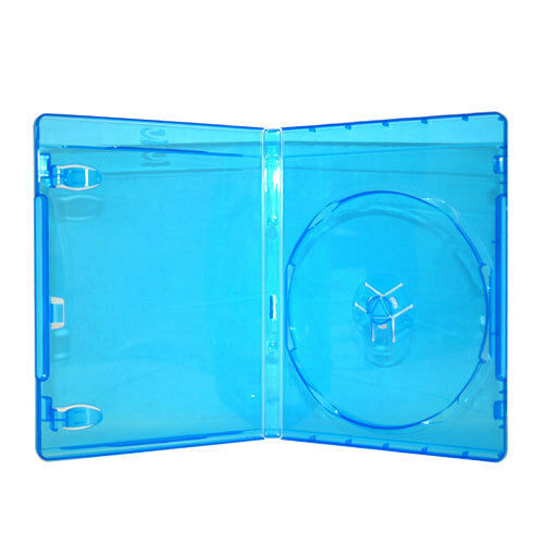 100 NEW 12mm 1-Disc Single Blue Blu-Ray DVD CD Disc Case Movie Box