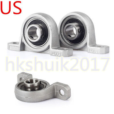 2pcs Hot New Znc Alloy 12mm Bore Diameter Ball Bearing Pillow Block
