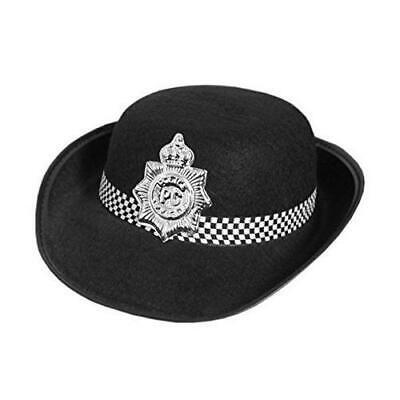 GIRLS WOMENS POLICE OFFICER HAT - FEMALE FANCY DRESS HEN PARTY ACCESSORY - Womens Police Officer Kostüm