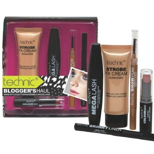 Technic Blogger's Haul Make-up Mascara Lipstick Collection Kit WoW