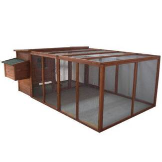 Chicken Coop Hen house Chook Hutch Run Cage with EXTENSION RUN Keysborough Greater Dandenong Preview
