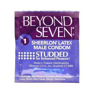 Okamoto Beyond Seven Studded Latex Condoms Pack of 2 - 100 Beyond Seven Latex Condoms