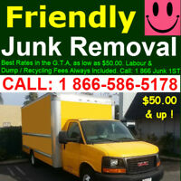 Fast, friendly junk removal service 1877 645-5043,