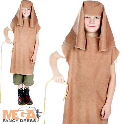Joseph Boys Fancy Dress Christmas Nativity Shepherd Kids Xmas Costume Outfit New (Joseph Outfit Christmas)