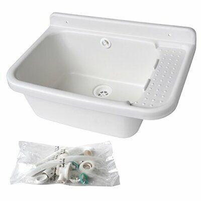 LAVSG60 Sink Sink Sink Resin White, 600 x 420 x 300 mm