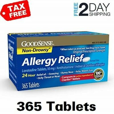 Best Non Drowsy Allergy Medicine Pills Goodsense Medication Relief All Day