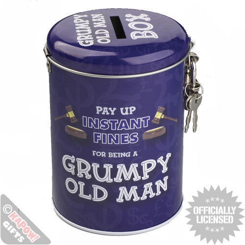 Fines Tin Grumpy Old Man. Funny Novelty Unusual Gift Savings Tin