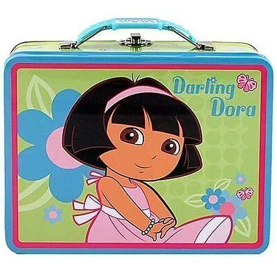 Dora Toy Box - Tin Metal Lunch Snack Toy Box Embossed DORA the Explorer Darling Dora NEW