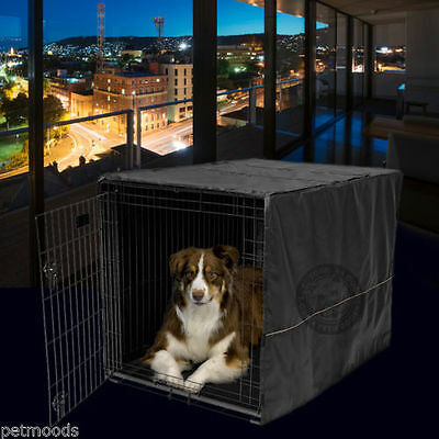 Large Midwest Life Stages - Dog Crate Cage Kennel Pet COVER ONLY Black MidWest Quiet Time 42