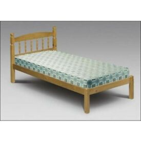 Julian Bowen single solid pine bed & mattress