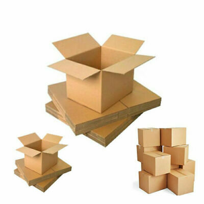 5 x Large SW Heavy Duty Cardboard Postal Boxes Made From Corrugated Kraft Paper