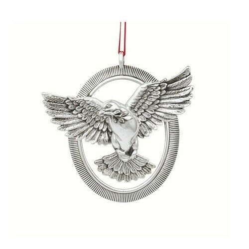 "2020 Barrett & Cornwall Sterling Christmas Ornament ""Radiant Dove"" , NEW"