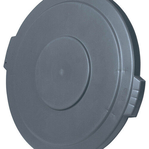 Flat Lid for Round Bronco Waste Container 269-605, White