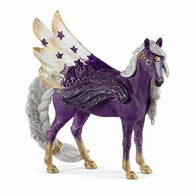 Schleich bayala Sparkle Star Purple Pegasus Mare Toy for Kids Ages 5-12
