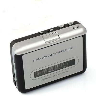 Tape to USB Cassette-to-MP3 Converter Audio Capture Tape Player for Win XP Win 7