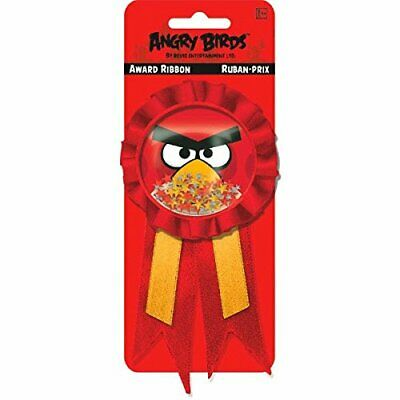 Angry Bird GUEST OF HONOR RIBBON ~ Birthday Party Supplies Favors Award - Angry Bird Birthday Supplies