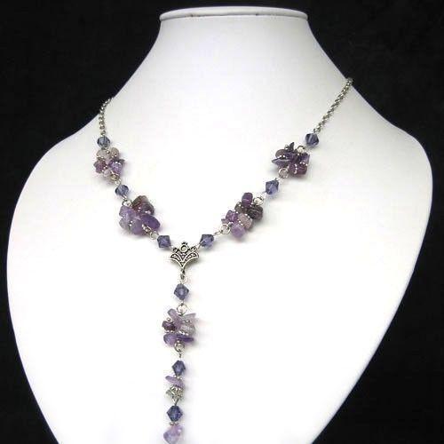 Purple Stone Necklace Ebay