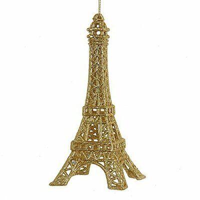 Kurt Adler Eiffel Tower Christmas Tree Ornament for Holidays, Gold Glitter ()