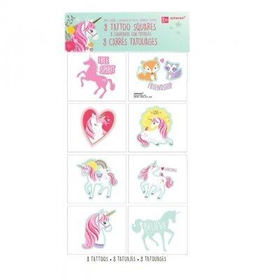 Unicorns Tattoos - Birthday Party Supplies - Favours Loot Ideas - Magical - Unicorn Party Ideas