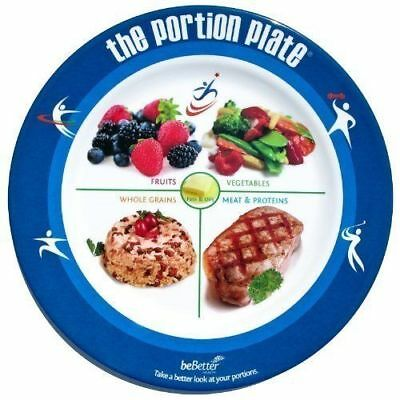 (New Portion Plate for Adult Manage Weight Loss Control Food Diet Plan Meal Guide)